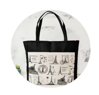 canvas bag large zipper bag shopping bag