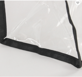 0.3MM clear PVC shopping tote bag with handle