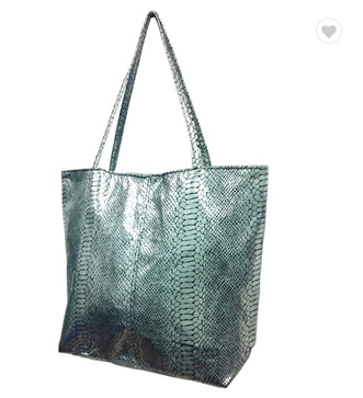 new indian lady snake pattern soft Pu handbag tote bag