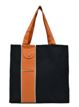 polyester tote bag with one small pocket